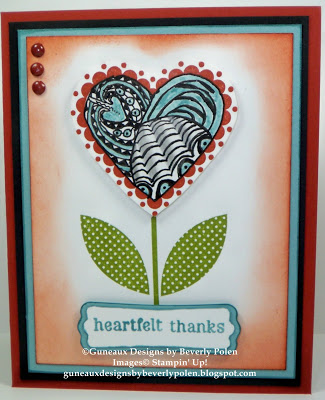 Stampin' Up! Sweetheart - Heartfelt Thanks