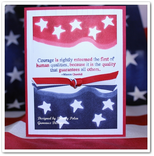 stampin up 4th of july card stamping with guneaux designs