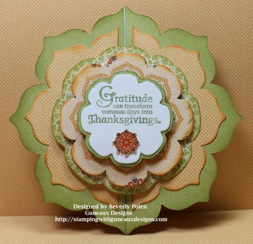 Day of Gratitude Stamp Set and SU Floral Frames Framelits