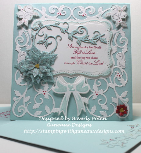 Spellbinders Decorative Holly Frame and 5X7 Holly Frame