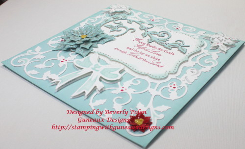 Spellbinders Decorative Holly Frame and 5x7 Holly Frams