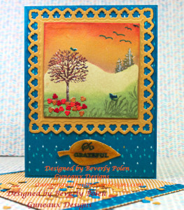 Stampin Up Happy Scenes-Bohemian DSP