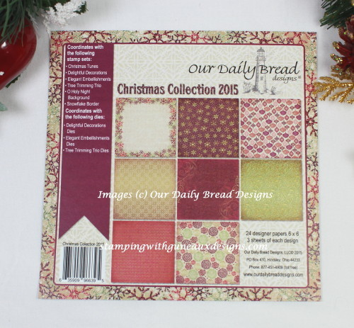 ODBD Christmas Colection 2015 Paper Pad