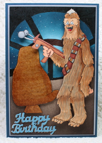 Chewbacca Happy Birthday Card Stamping With Guneaux Designs