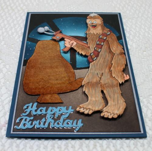 Chewbacca Happy Birthday Card