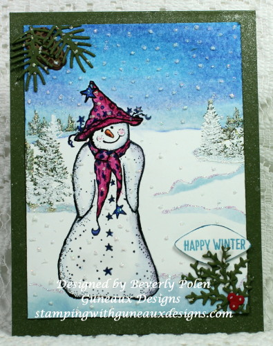 Happy Scenes Stamp Set Happy Winter Snowman