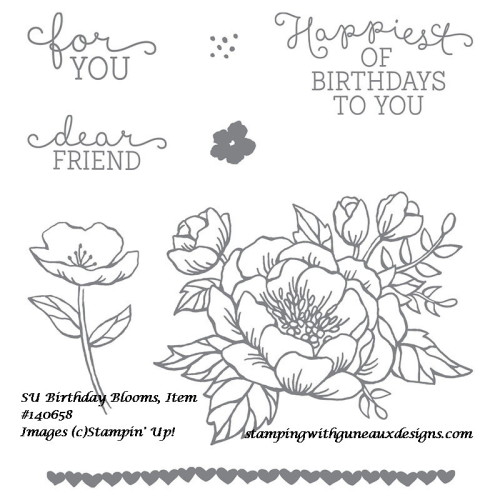 Stampin' Up! Birthday Bouquet DSP and Stampin' Up! Birthday Blooms