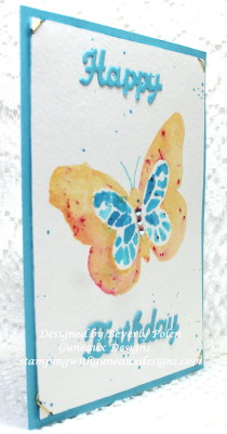 Water Coloring Technique - SU Bold Butterfly Framelits