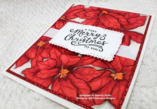 Merry Christmas Poinsettias