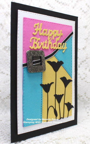 Color Blocking Happy Birthday