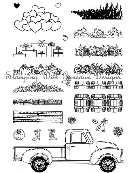 Honey Bee Little Truck Stamp Set