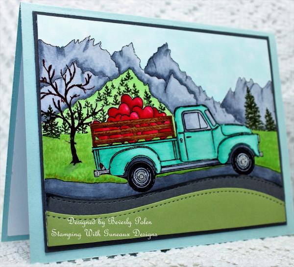 Honey Bee Little Truck Stamp Set