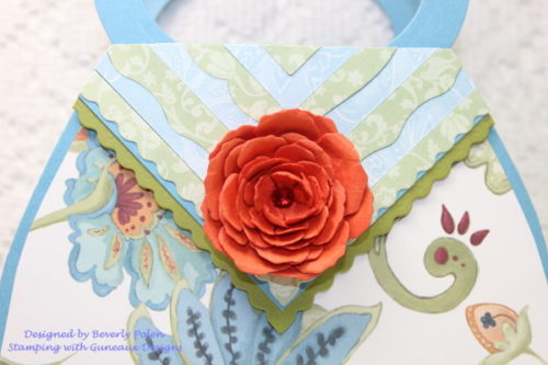 Paper Purse Card with SU Paisley Petals