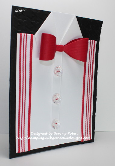 shirt and bow tie card