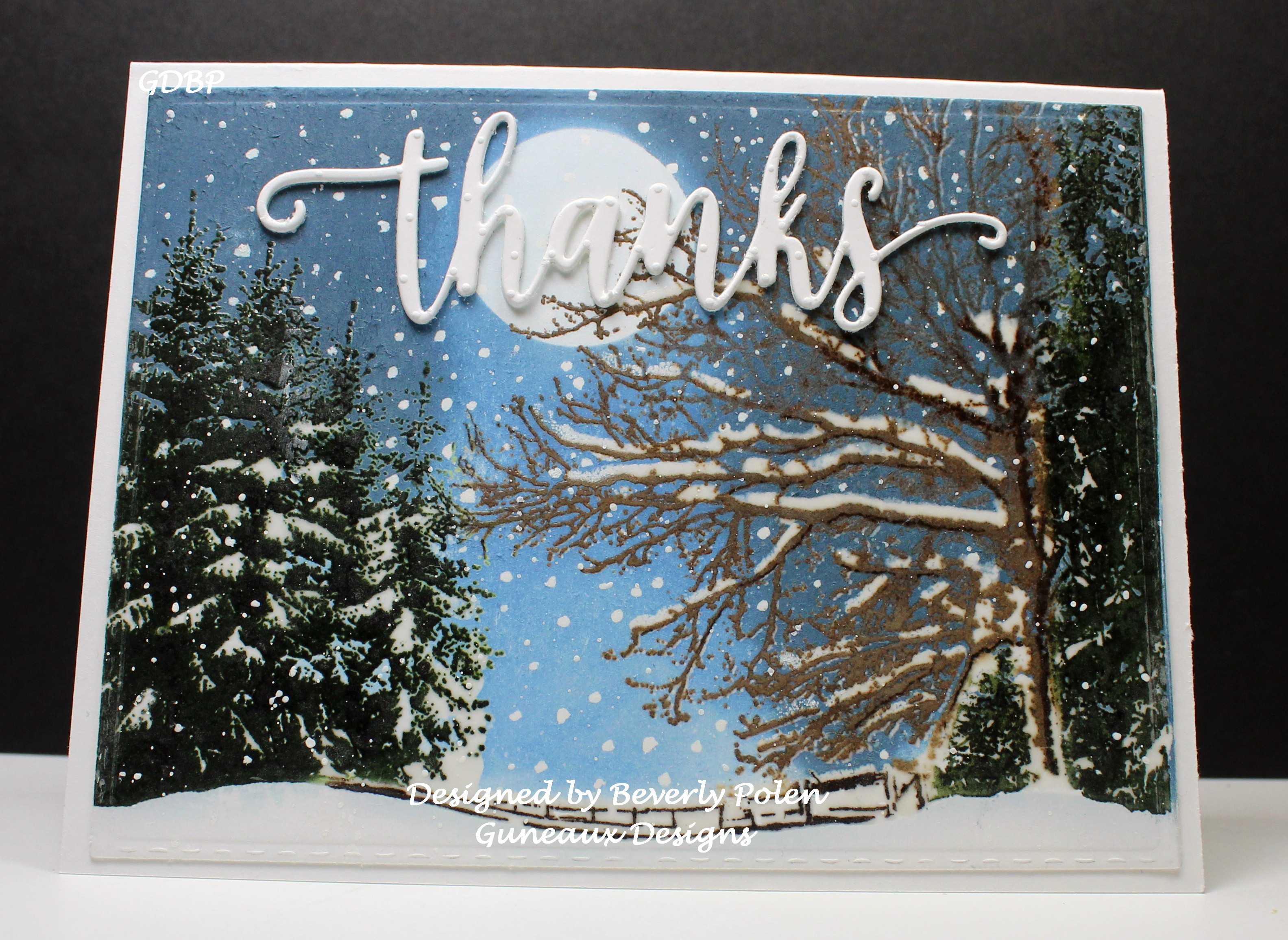 Penny Black Dressed in Snow Card